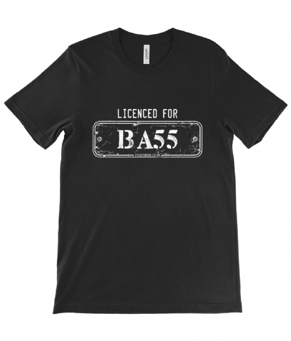 Licenced for Bass black Tee